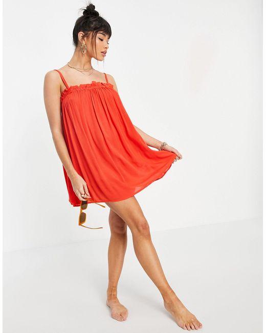 Vestido corto rojo ASOS de color Red