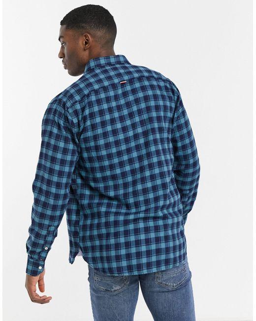 Global - Chemise motif vichy Tommy Hilfiger pour homme en coloris Blue
