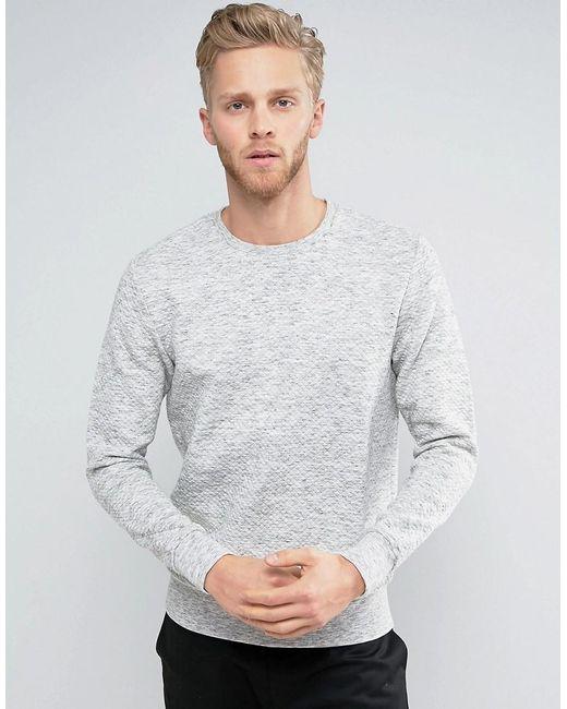 Jack & Jones | Gray Premium Quilted Sweatshirt for Men | Lyst