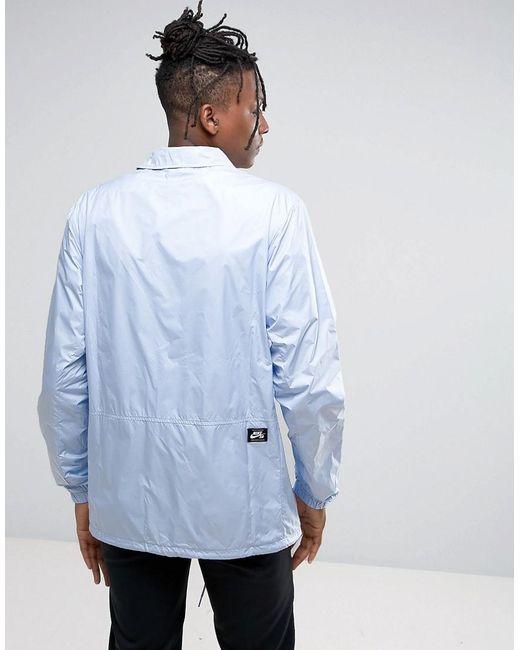 Nike Coach Jacket In Baby Blue 829509 466 In Blue For Men