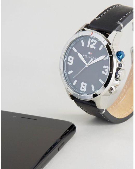 tommy hilfiger 1791298 smart watch in black in black for. Black Bedroom Furniture Sets. Home Design Ideas