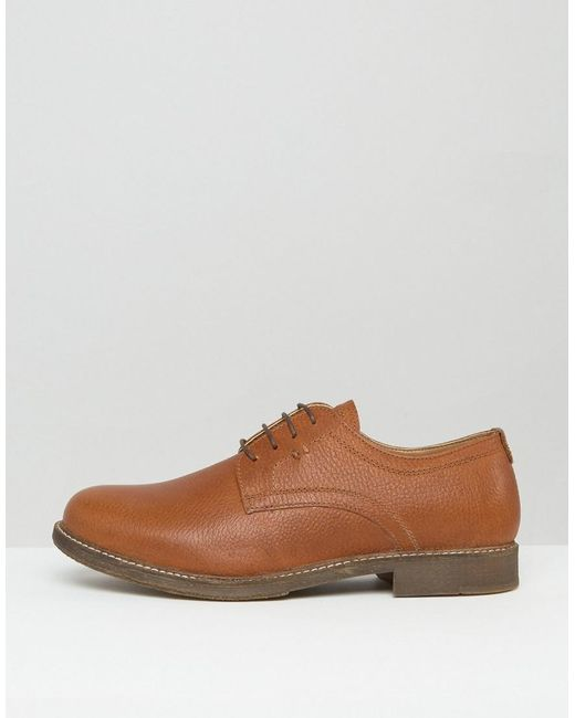 Derby Brown Milled Mens Shoes