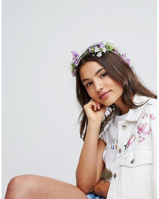 ASOS | Multicolor Festival Wild Flower Hair Wrap | Lyst