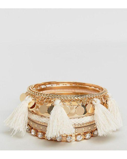 ALDO | Metallic Multipack Tassel Bracelets | Lyst