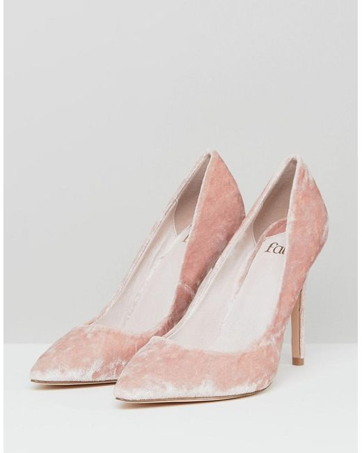 Faith Cassidy Blush Velvet Court Shoes In Pink Lyst