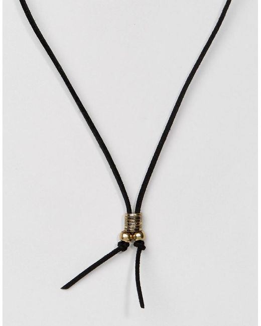 Classics 77 | Suedette Necklace In Black for Men | Lyst