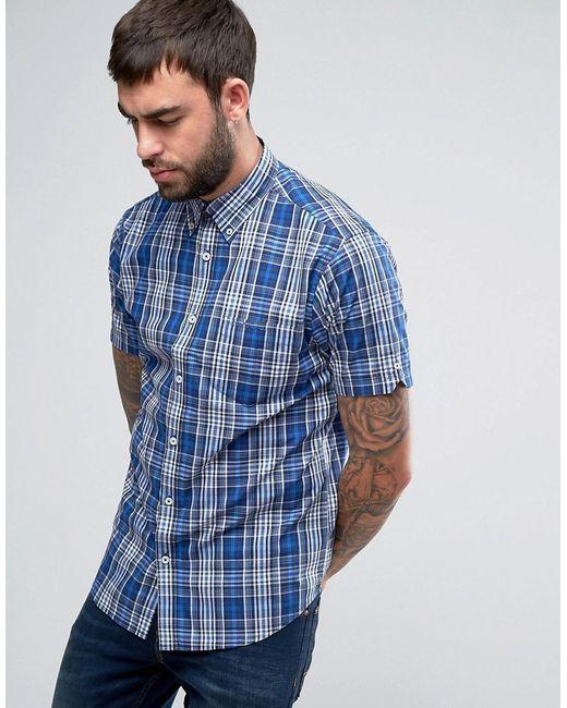 Ben Sherman Regular Fit Checked Shirt In Blue For Men Lyst