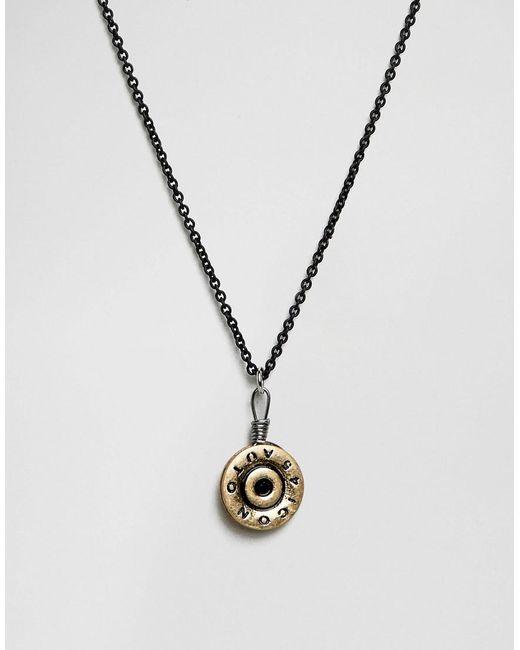 Icon Brand | Bullet Pendant Necklace In Matte Black for Men | Lyst