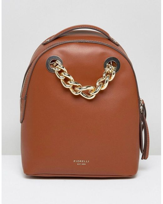 Fiorelli | Brown Anouk Mini Backpack In Tan With Chain Detail | Lyst