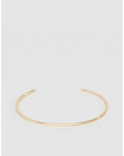 ASOS | Metallic Super Slim Cuff Bracelet | Lyst