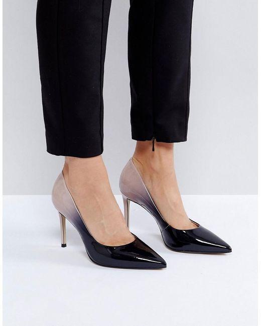 Carvela Kurt Geiger   Black Alison Ombre Patent Court Shoes   Lyst