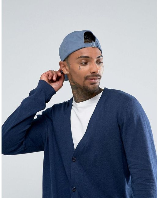 Asos Longline Cotton Cardigan In Relaxed Fit In Navy in Blue for ...