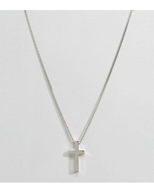 Seven London   Metallic Sterling Silver Cross Necklace In Silver for Men   Lyst