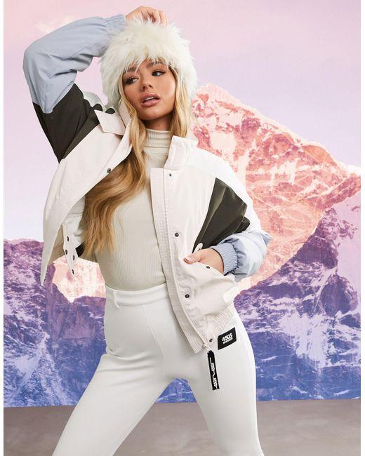 Горнолыжная Куртка Пастельного Цвета В Стиле Колор-блок Ski-мульти ASOS 4505, цвет: Multicolor