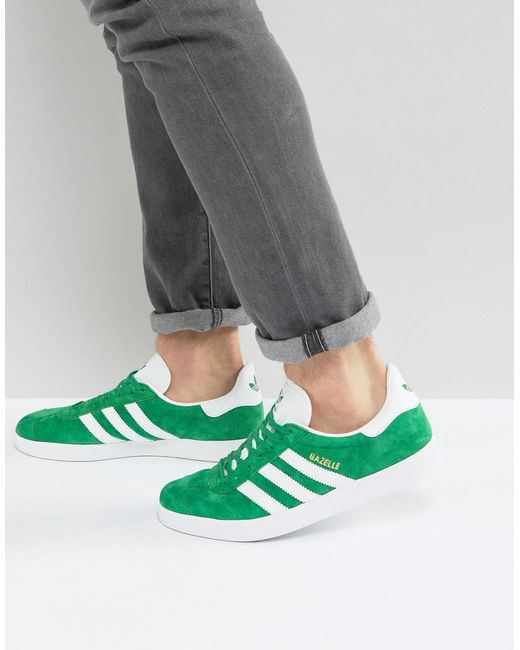 Adidas Originals | Gazelle Trainers In Green Bb5477 - Green for Men | Lyst