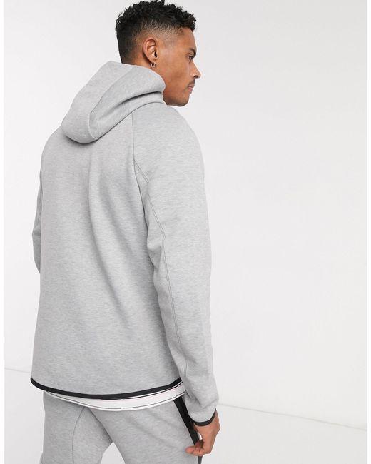 Nike Tech Fleece Full Zip Hoodie In Black Grey For Men Save 50 Lyst