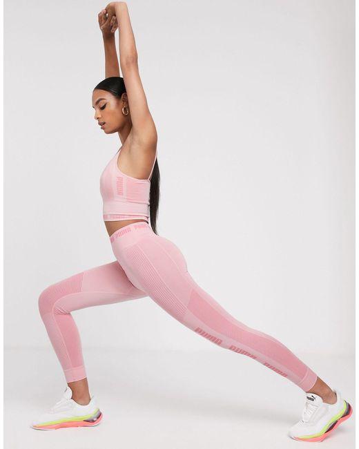 Розовые Бесшовные Леггинсы -розовый Цвет PUMA, цвет: Pink