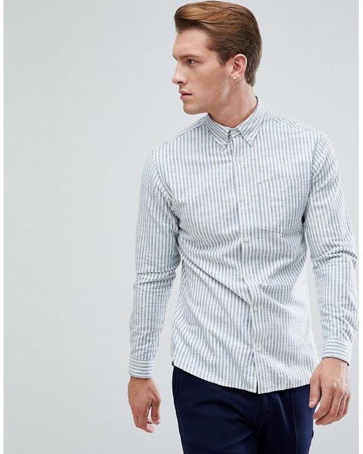 Jack & Jones | Blue Premium Slim Stripe Shirt for Men | Lyst