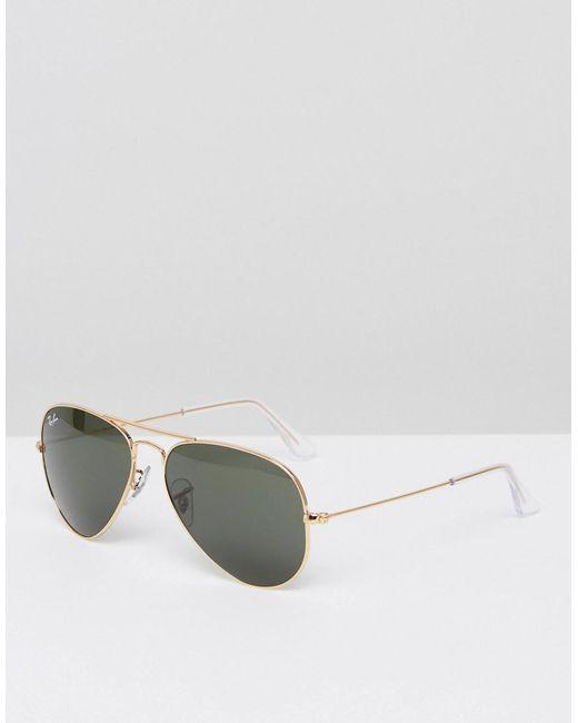 Ray-Ban - Metallic Aviator Sunglasses 0rb3025 for Men - Lyst