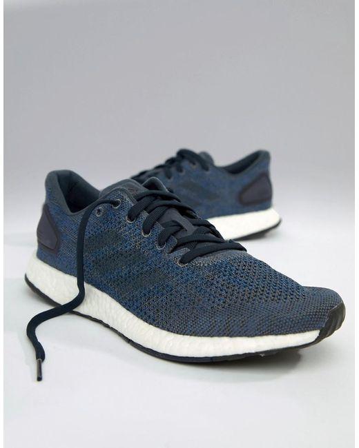 80e6b3efc Adidas - Blue Running Pureboost Dpr In Navy Bb6293 for Men - Lyst ...