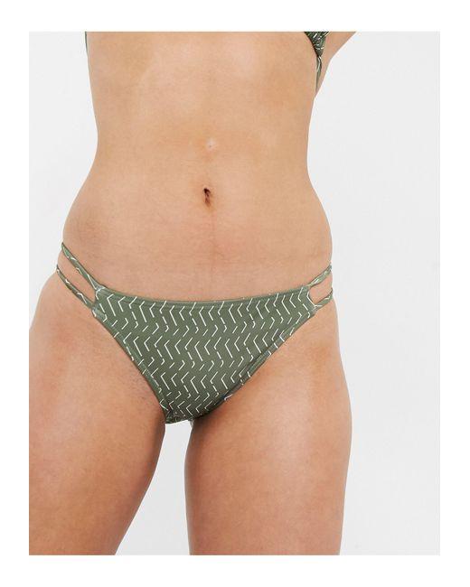 Бикини-топ С Треугольными Чашечками -зеленый South Beach, цвет: Green