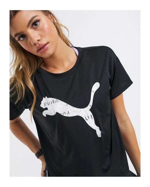 PUMA Black – Last Lap – T-Shirt mit Logo