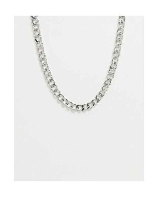 Серебристое Ожерелье-цепочка С Крупными Звеньями -серебристый Pieces, цвет: Metallic