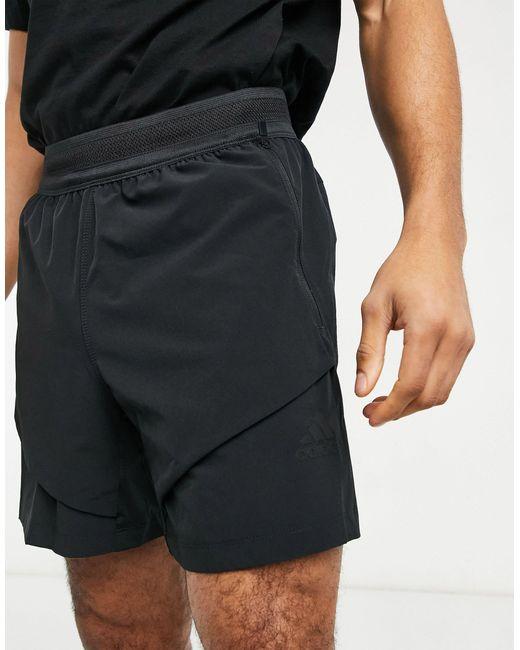 Черные Шорты Из Технологичной Ткани Adidas Yoga-черный Цвет Adidas Originals для него, цвет: Black