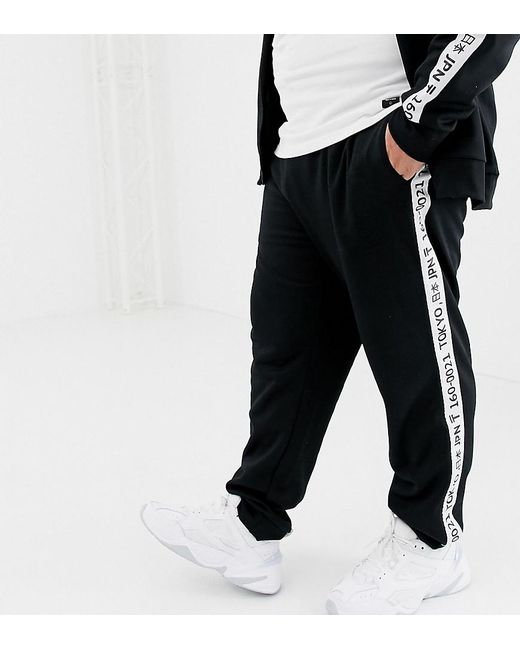 Criminal Damage tracksuit in white with check side stripe | ASOS