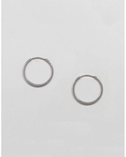 Weekday - Metallic Mid Ring Hoop Earrings - Lyst