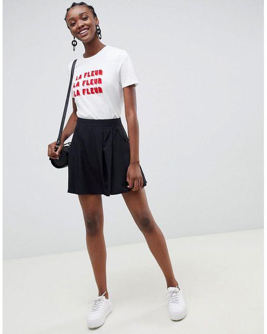 ASOS Black Tailored Mini Pleated Skirt