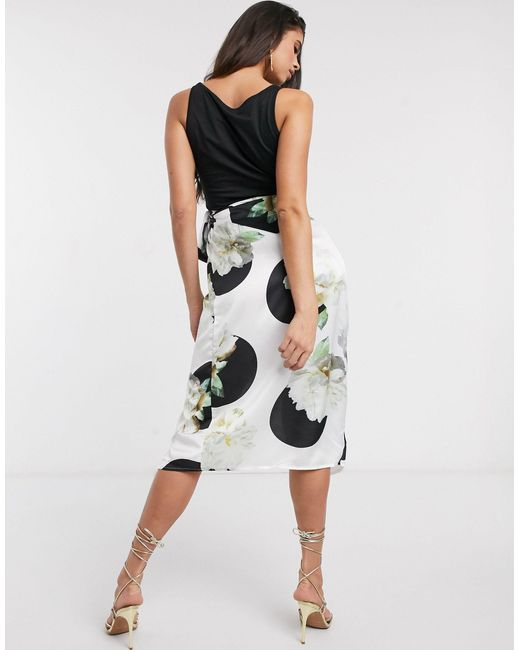 Юбка Миди -мульти Never Fully Dressed, цвет: Black