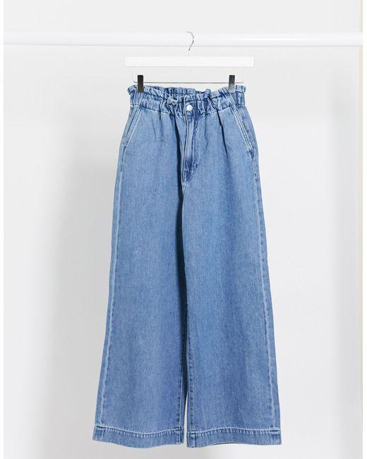 Широкие Джинсы Из Органического Хлопка -синий Monki, цвет: Blue