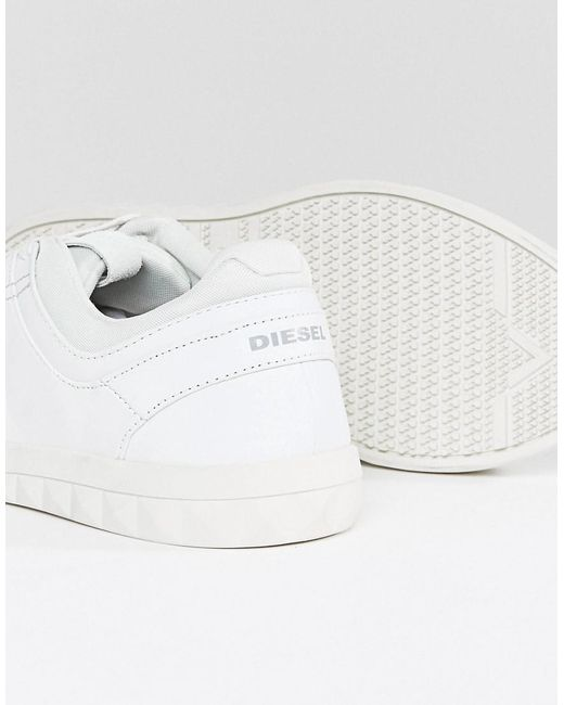 Diesel Stud Sole Leather Trainers White free shipping free shipping best sale sale pre order GWgktCNu