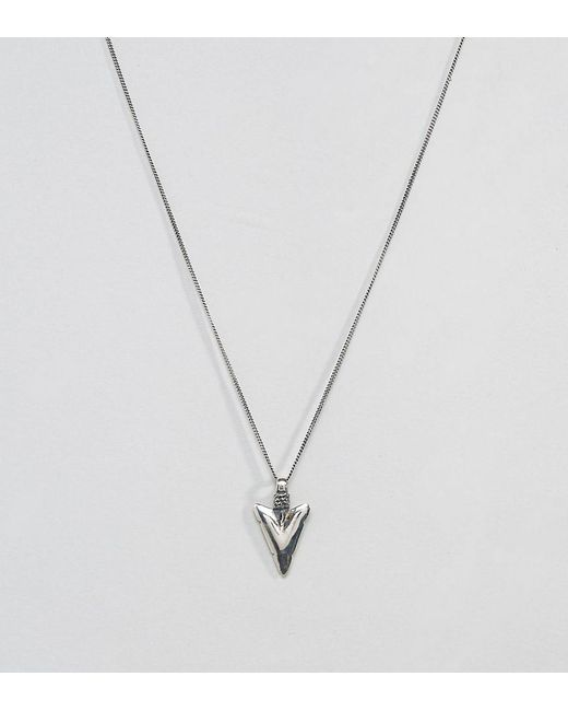 ASOS | Metallic Sterling Silver Necklace With Arrow Pendant for Men | Lyst