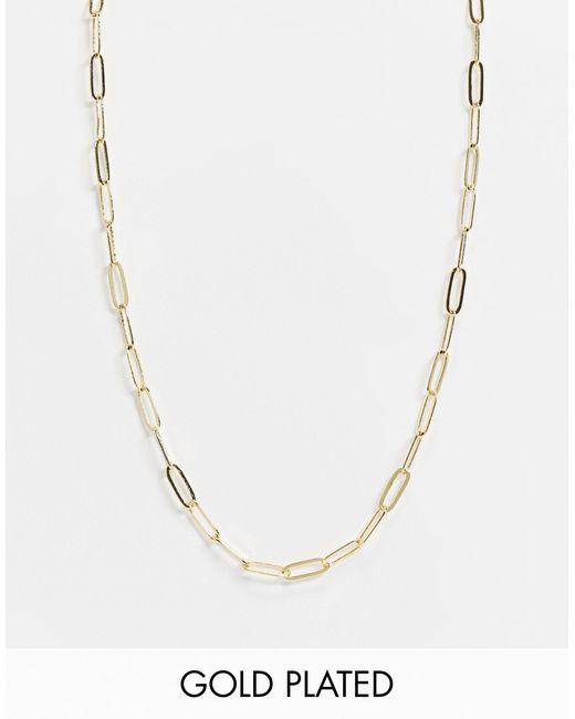 Позолоченное Ожерелье-цепочка -золотистый Orelia, цвет: Metallic