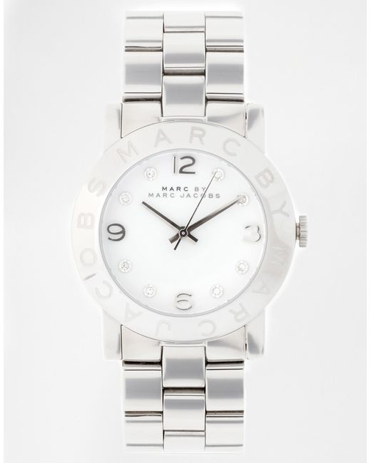 Marc Jacobs | Metallic Amy Silver Watch Mbm3054 | Lyst
