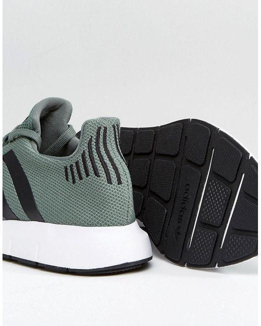 adidas originals schnell laufen, trainer in der grünen cg4115 für männer in grün