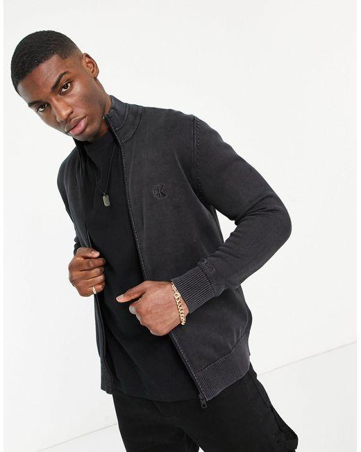 Базовый Джемпер На Молнии -черный Цвет Calvin Klein для него, цвет: Black