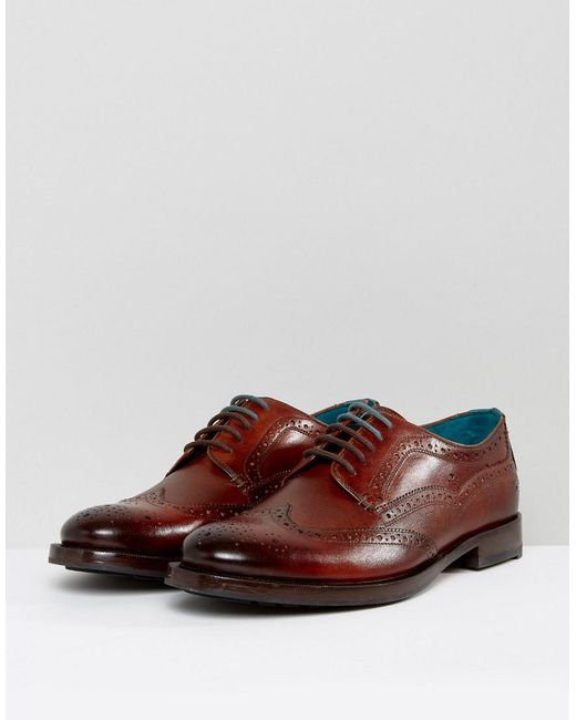 ... Ted Baker - Multicolor Senape Derby Brogue Shoes for Men - Lyst ...