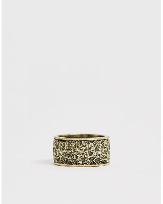 Золотистое Кольцо С Гравировкой -золотой Classics 77 для него, цвет: Multicolor