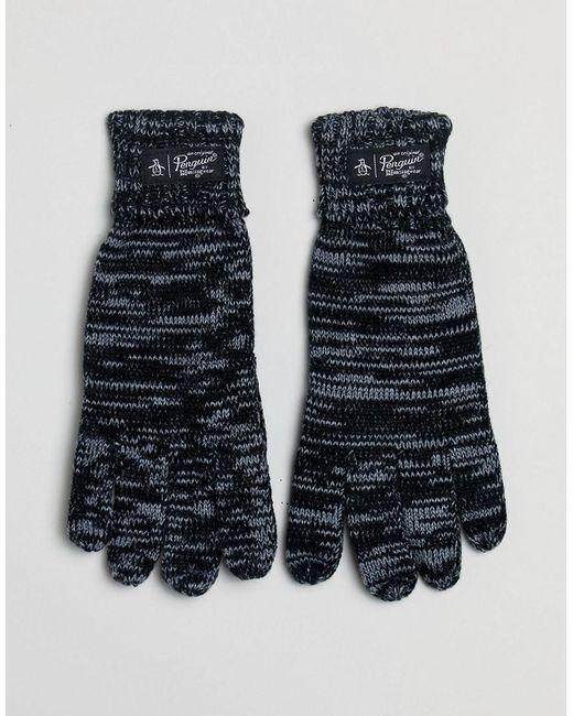 Original Penguin - Black Straits Gloves for Men - Lyst