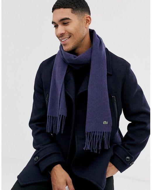 Écharpe en maille - Bleu Lacoste pour homme en coloris Blue