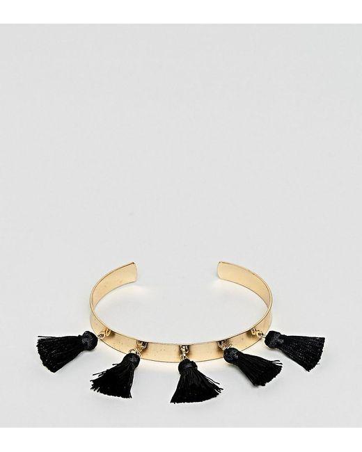 ASOS - Metallic Asos Design Curve Tassel Cuff Bracelet - Lyst