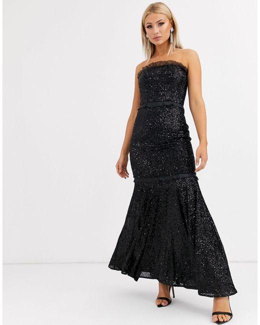 Jarlo Vestido negro con escote palabra de mujer