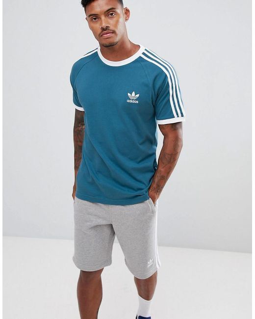 T Shirt Adidas Blue In California For Men Originals Dv2554 34j5LAR