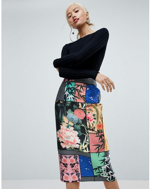 ASOS Pencil Skirt in Delicate Floral Print New Sale Online Fast Delivery For Sale Wiki For Sale 100% Original High Quality Cheap Price eJqPT20