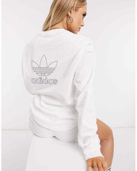 Белый Лонгслив С Логотипом На Спине Essentials Adidas Originals, цвет: White
