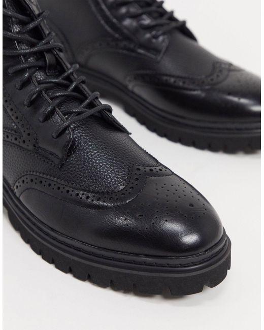 Botas tipo Oxford con cordones ASOS de hombre de color Black