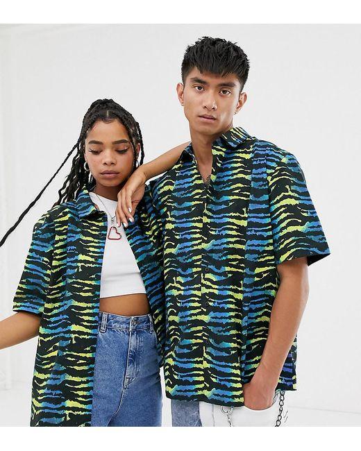 Collusion Blue Unisex Animal Print Shirt for men